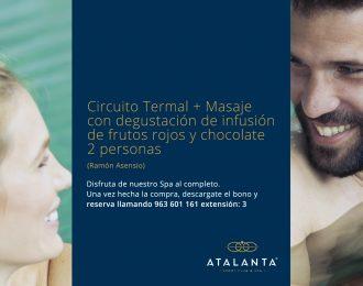 Circuito Termal + Masaje en pareja Promoción Especial Ramón Asensio
