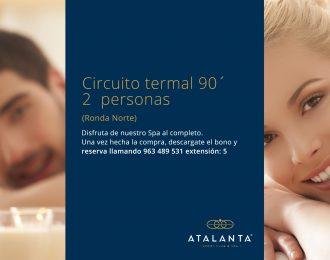 Circuito termal 90' 2 personas (Ronda Norte)