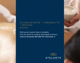 Pack Spa 90 min + exfoliante 10' ( 1 per)  Ronda Norte