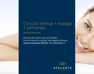 Circuito termal + masaje 1 personas Ramón Asensio