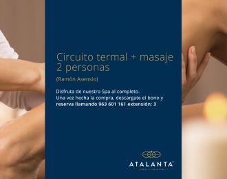 Circuito termal + masaje 2 personas Ramón Asensio