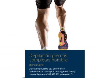 Depilación piernas completas hombre Ronda Norte