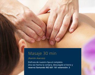 Masajes, relajantes, descontracturantes, deportivo, reafirmante, circulatorio y anticelulítico 30´  Ramón Asensio