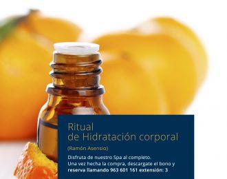 Ritual de Hidratación corporal Promoción Especial Ramón Asensio
