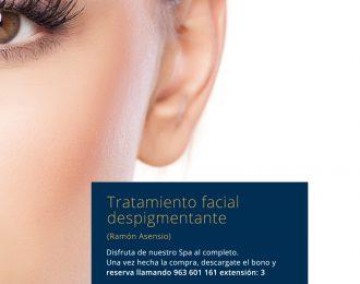 Tratamiento facial despigmentante  Ramón Asensio