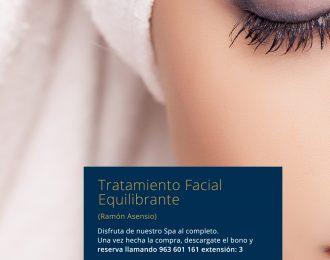 Tratamiento facial equilibrante Ramón Asensio